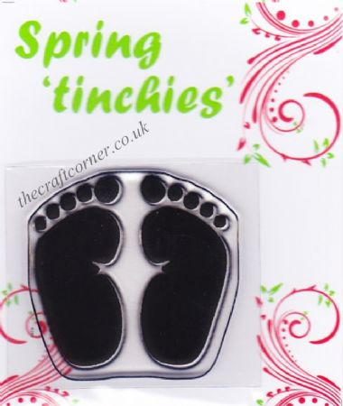 Footprints Clear Rubber Stamp
